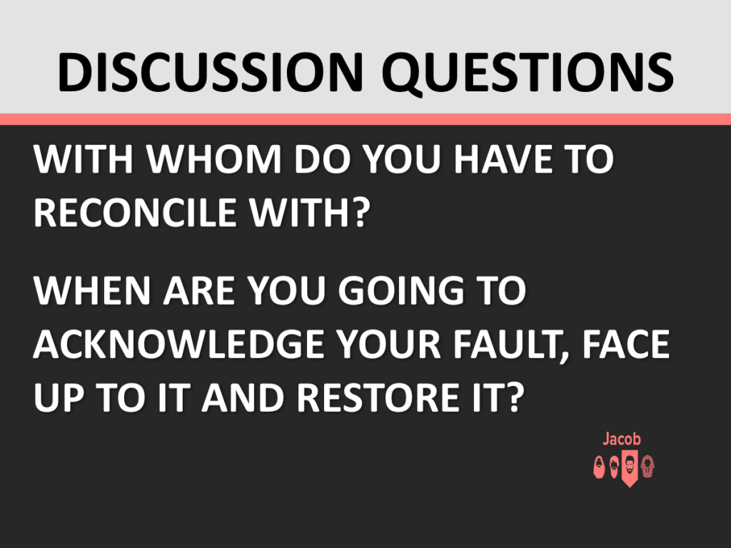 The 3 Faces of Restoration - Discussion Questions