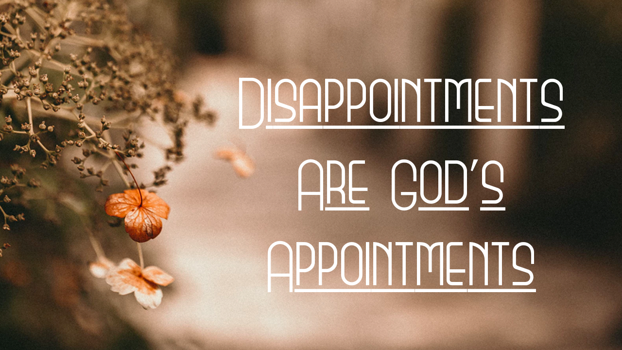 Disappointments are God's Appointments